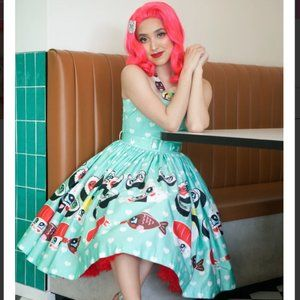 Sarsparilly Soy Lovely Sundress in Mint Hearts
